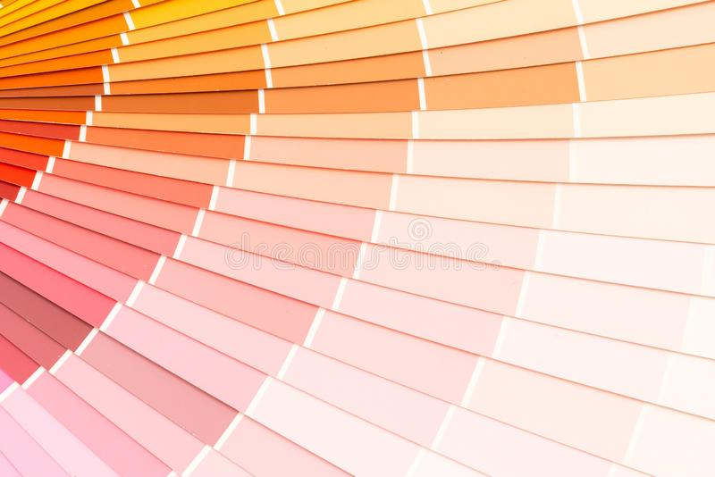 sample colors catalogue pantone royalty free stock image