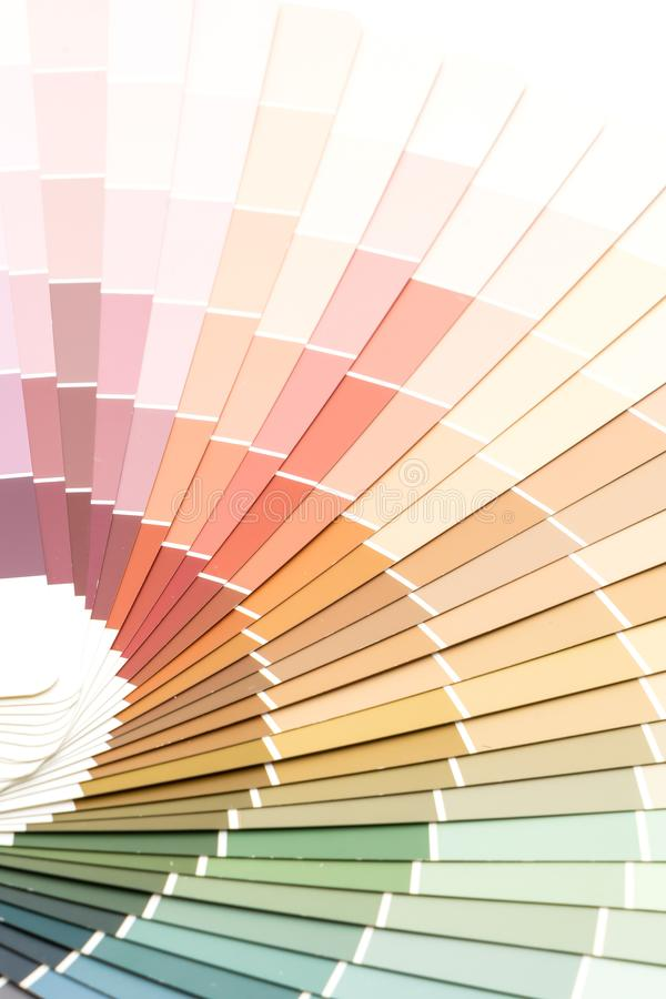 sample colors catalogue pantone stock photography