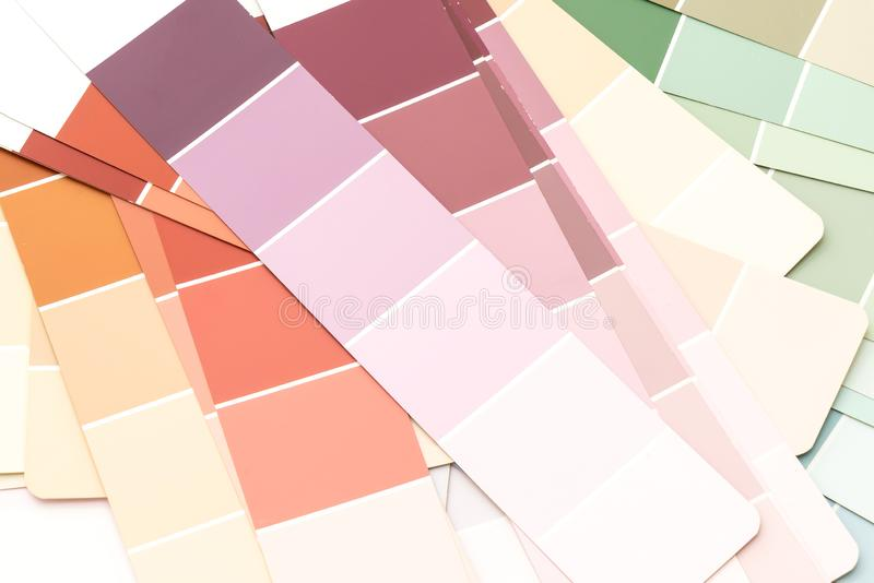 sample colors catalogue pantone stock image