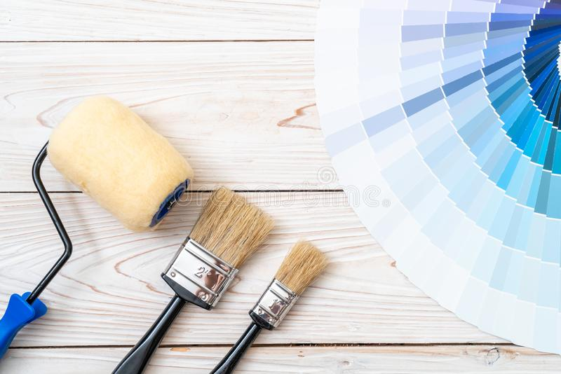 sample colors catalogue pantone or colour swatches book stock image