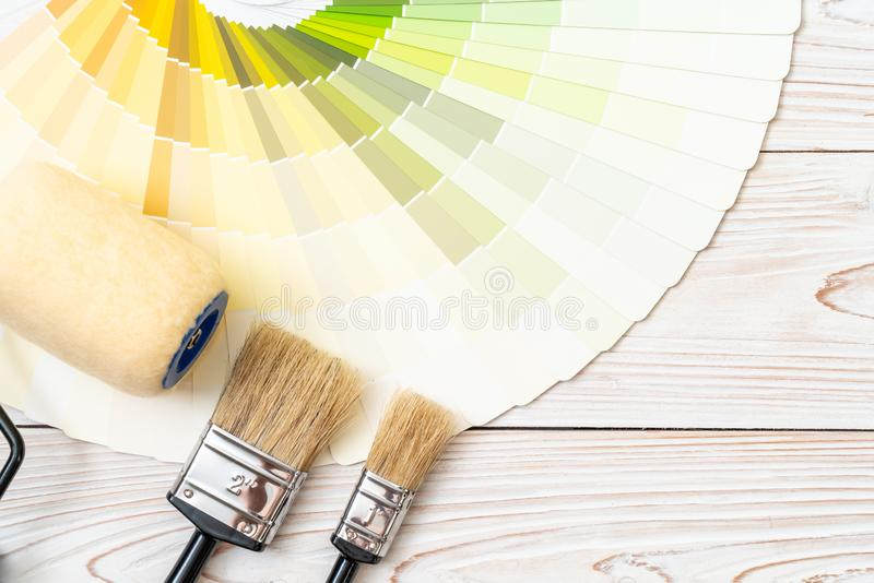 sample colors catalogue pantone or colour swatches book stock photo