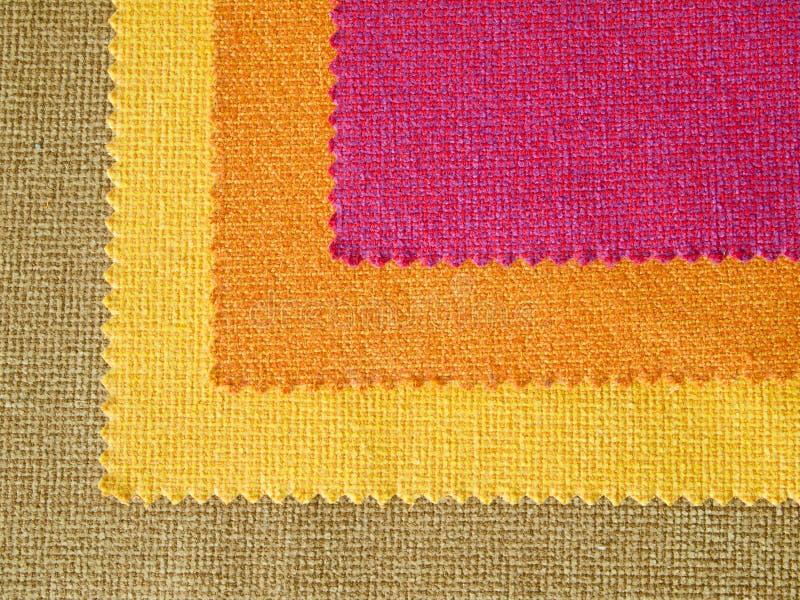 Sample Hot Tone Color Fabric Stock Image