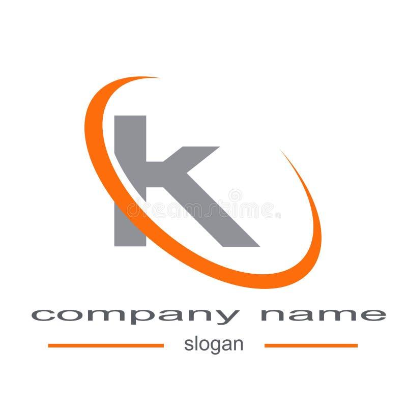 Letter k logo vector. Sample icon letter k logo vector royalty free illustration