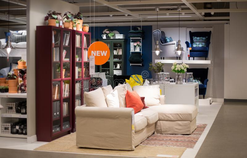 A sample of the interior in IKEA store, Shop discount 50% price off. Philadelphia Pennsylvania September 8, 2018: A sample of the interior in IKEA store, ,IKEA stock photo