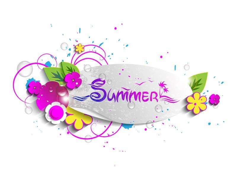 Sample labels - summer royalty free illustration