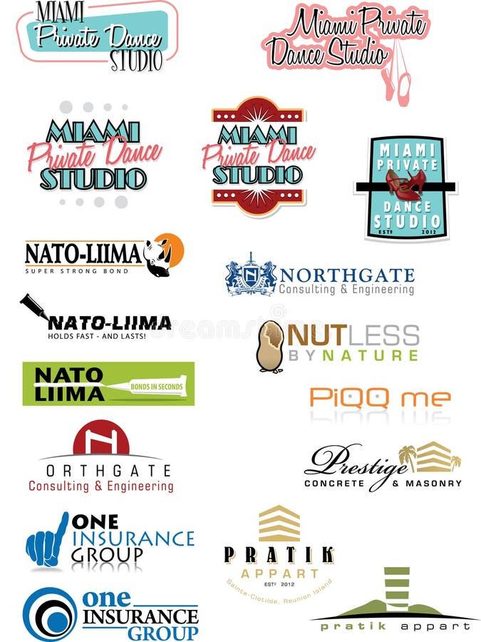 Sample Logo Set 5 royalty free stock image