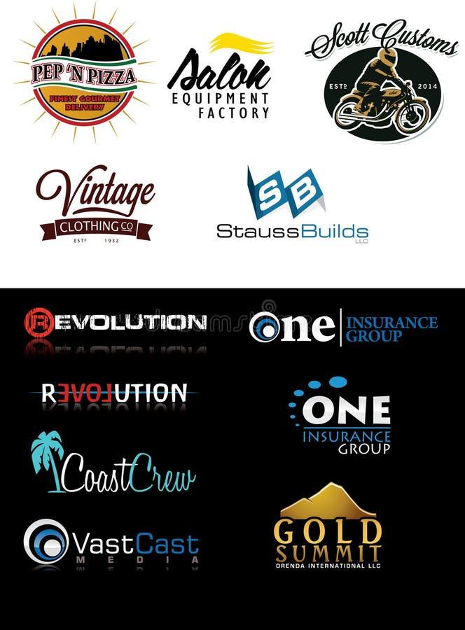 Sample Logo Set 9 stock images