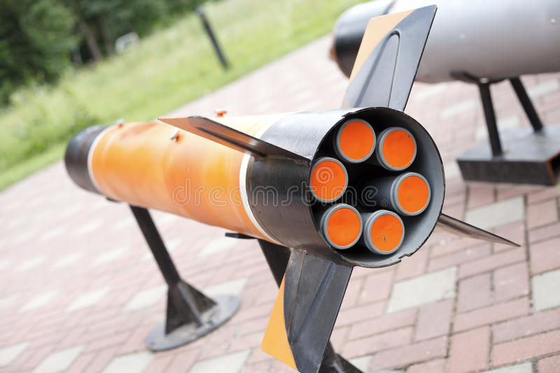 Sample missiles stock image
