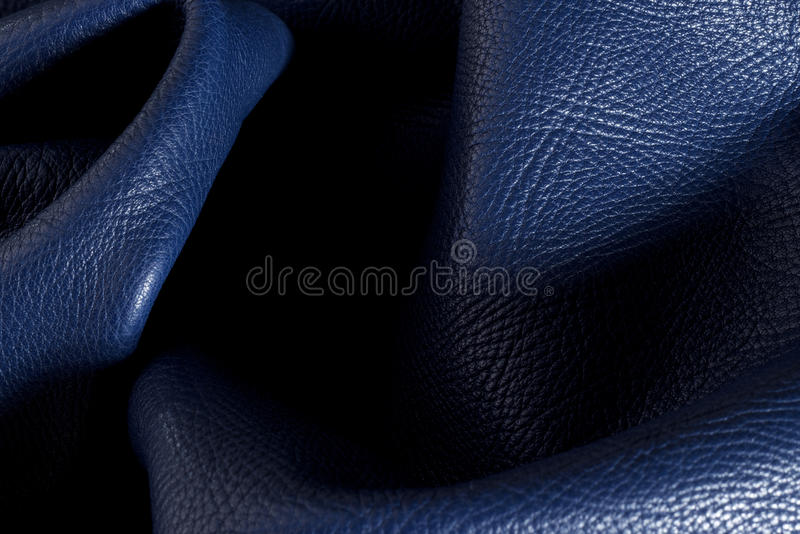 Sample Pieces of colored leather. close up stock photos