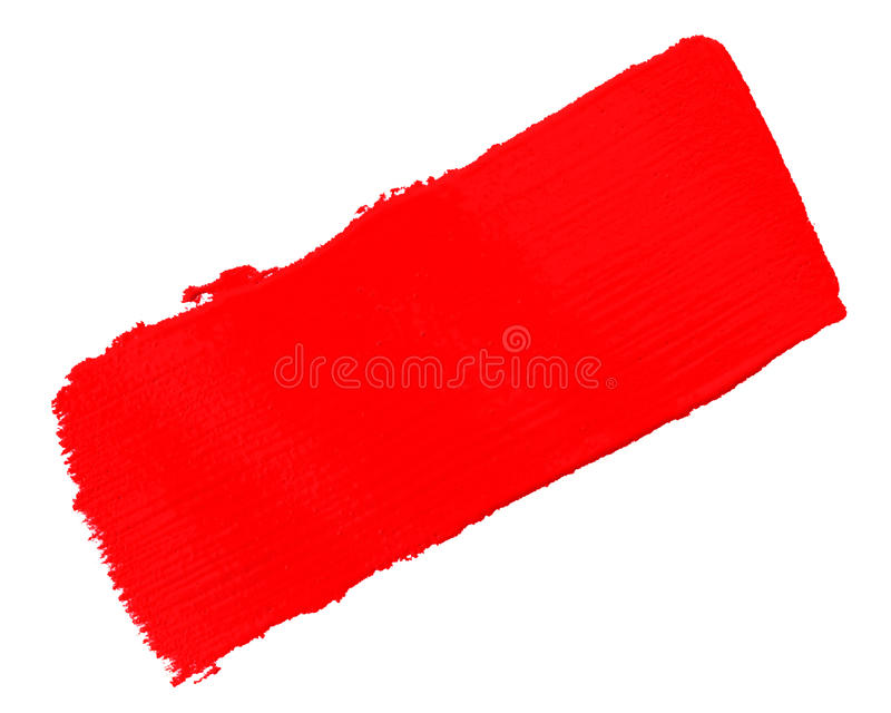 Sample red paint. Over white background stock photos