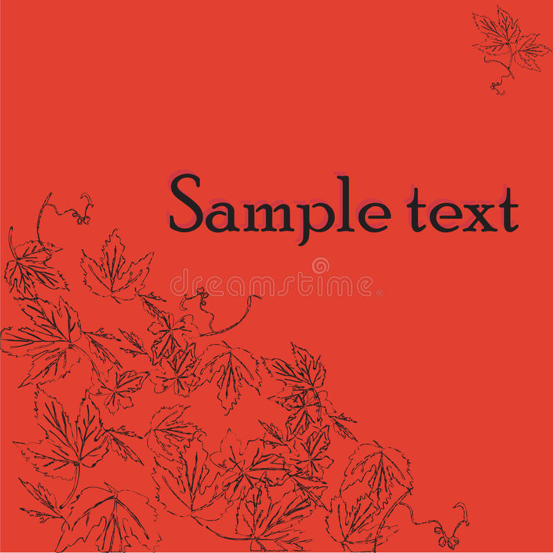 Download Sample Text Card With Wine Leaves Motif Stock Vector - Image: 11451485