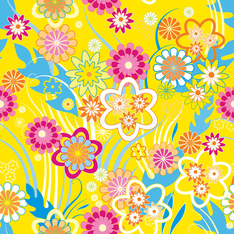 Sample_yellow_floral_vector illustration stock