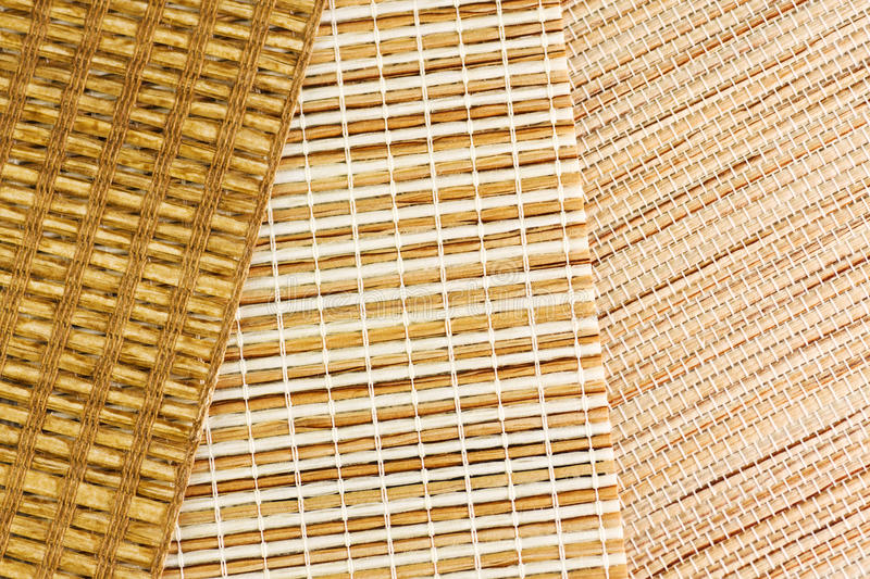 Samples of blinds from gunny royalty free stock photos