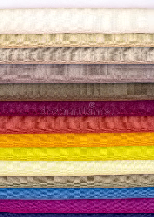 Samples color of fabric stock image