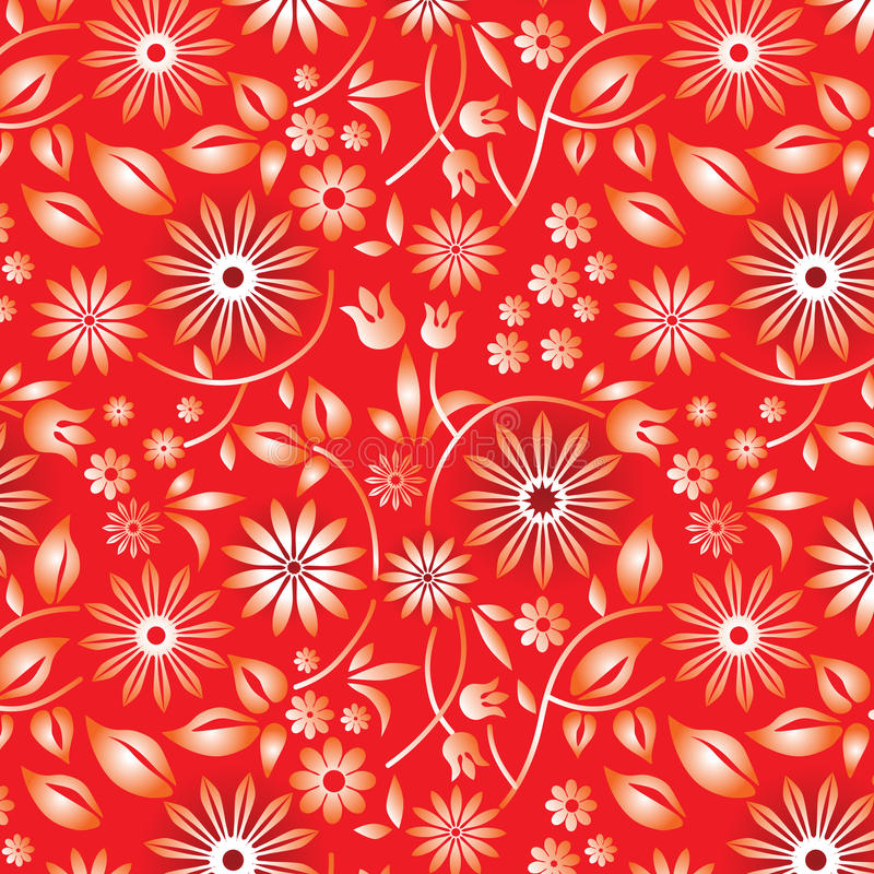 Samples_floral_red illustration stock