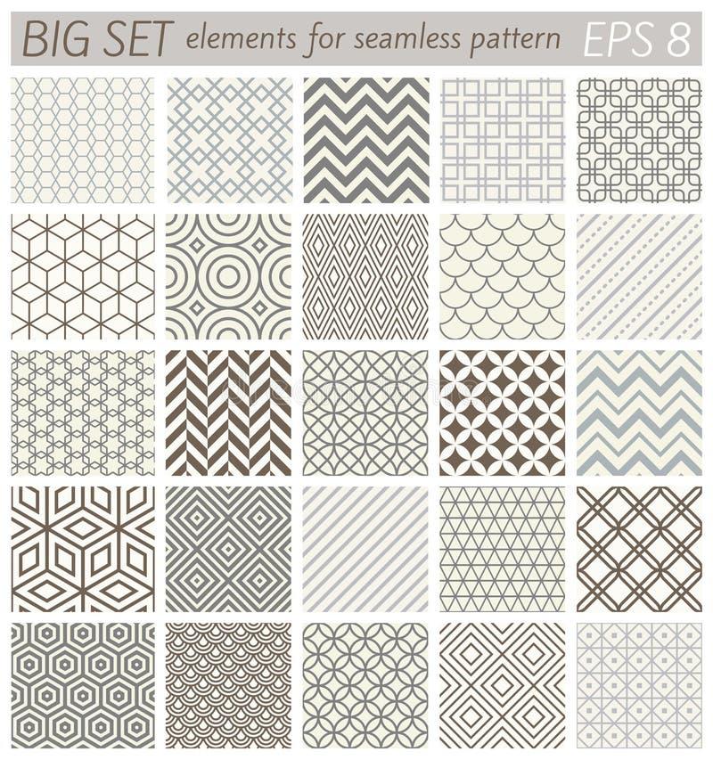 Samples geometric vector patterns stock illustration