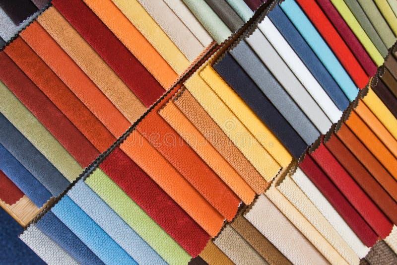 samples upholstery arkivfoton