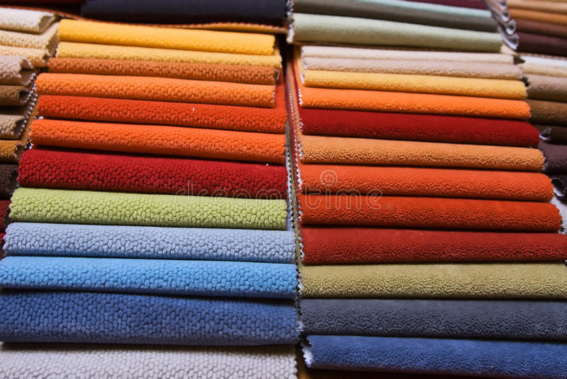 samples upholstery arkivfoto