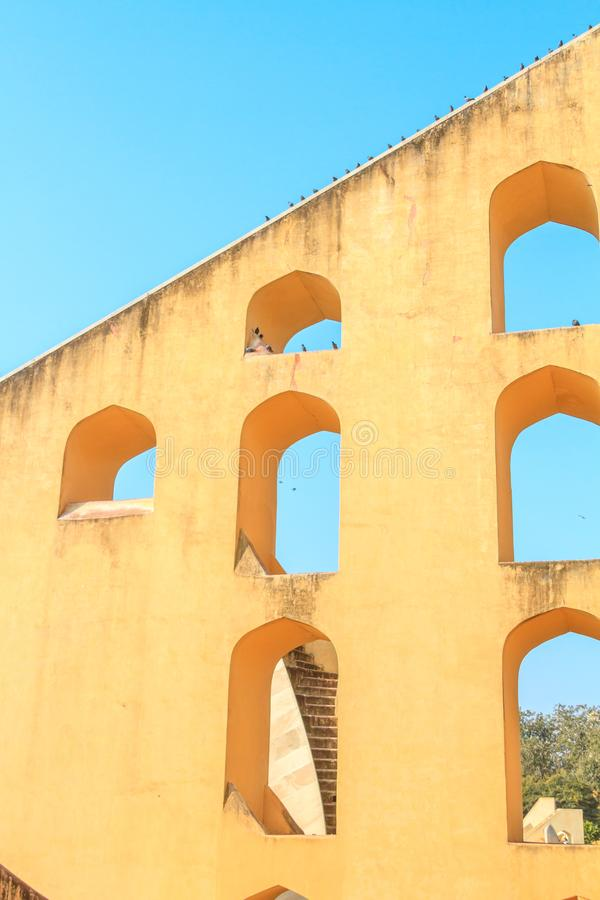 Samrat Yantra à Jaipur photo stock