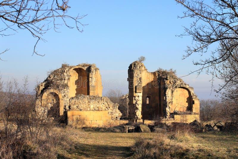 "The Samshvilde Sioni. Samshvilde Sioni church, built in 759-777 by the local grandees, Varaz-Bakuri, his brother Johan and sister Deborah, called ""the stock image"
