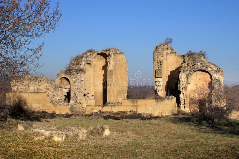 "Samshvilde Sioni. Church, built in 759-777 by the local grandees, Varaz-Bakuri, his brother Johan and sister Deborah, called ""the Queen of Samshvilde stock image"