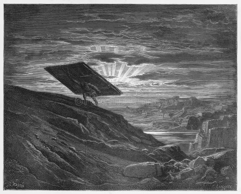 Samson носит прочь стробы Газа иллюстрация вектора