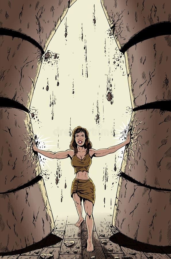 Samson femenino libre illustration