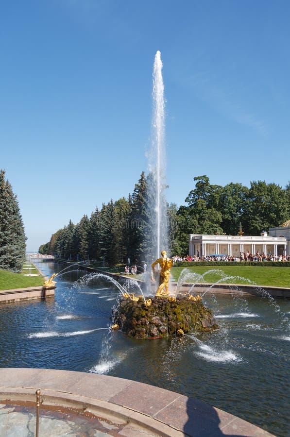 Samson Fountain royaltyfri foto