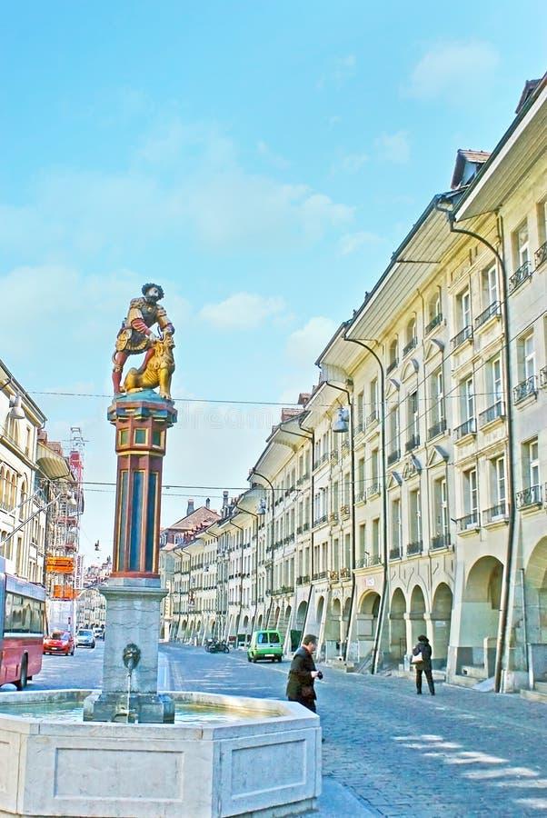 Samson Fountain in Berne royalty-vrije stock foto's