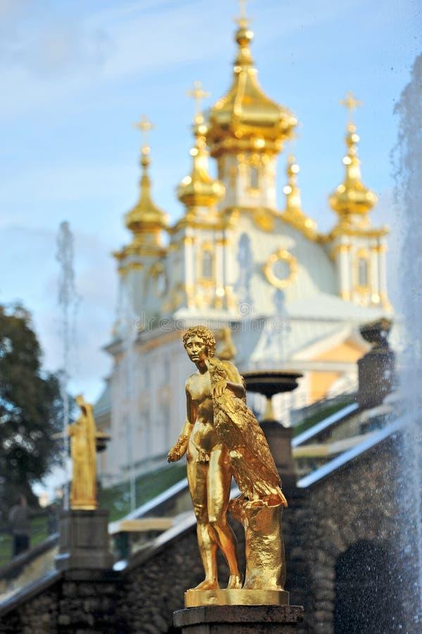 Samson Fountain, Russia stock photography