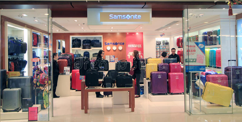 Samsonite商店在香港 免版税库存图片