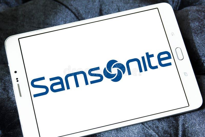 Samsonite bagażu wytwórcy logo zdjęcia stock