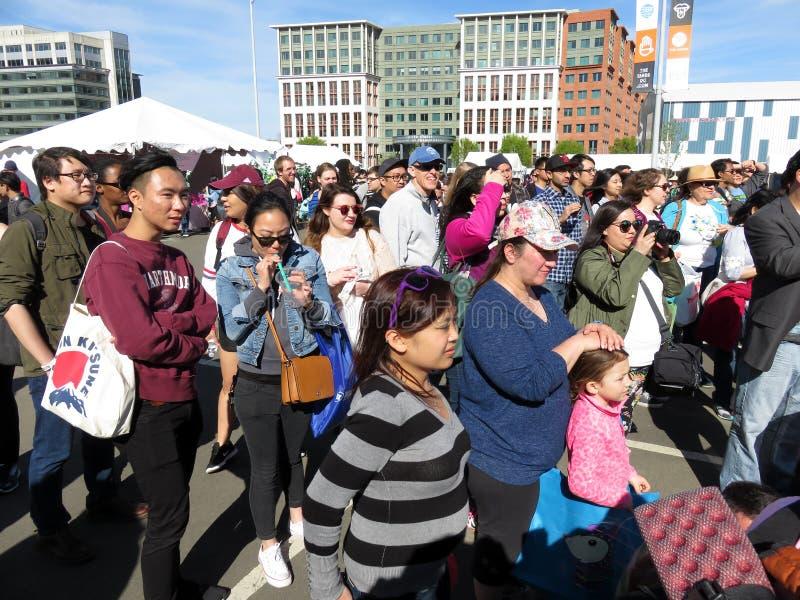 Samstag-Menge am Festival stockbild