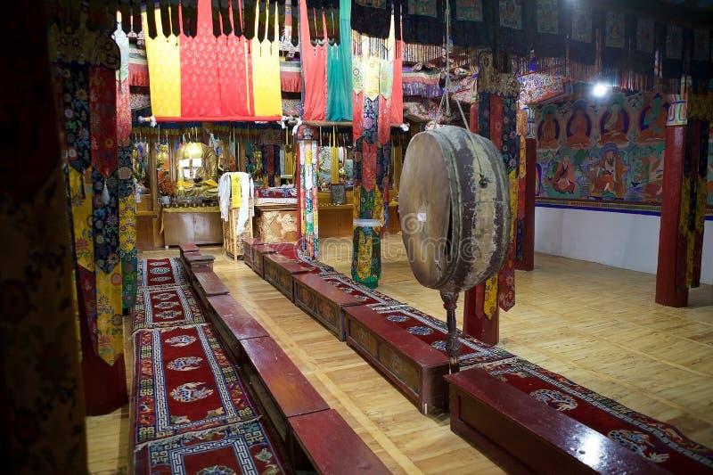 Samstanling monaster w Nubra dolinie, Ladakh, India zdjęcie royalty free