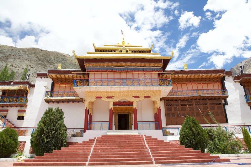 Samstanling monaster w Nubra dolinie, Ladakh, India zdjęcie stock