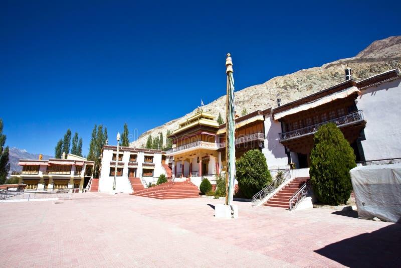 Samstenling monaster, Sumur, Nubra dolina, Ladakh, India zdjęcie royalty free