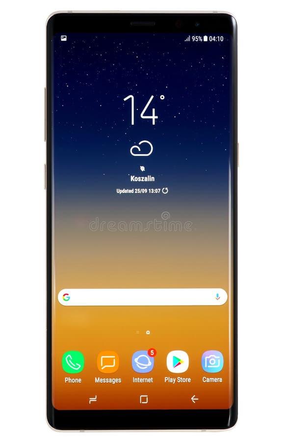 Samsung anmärkning 8 arkivbild