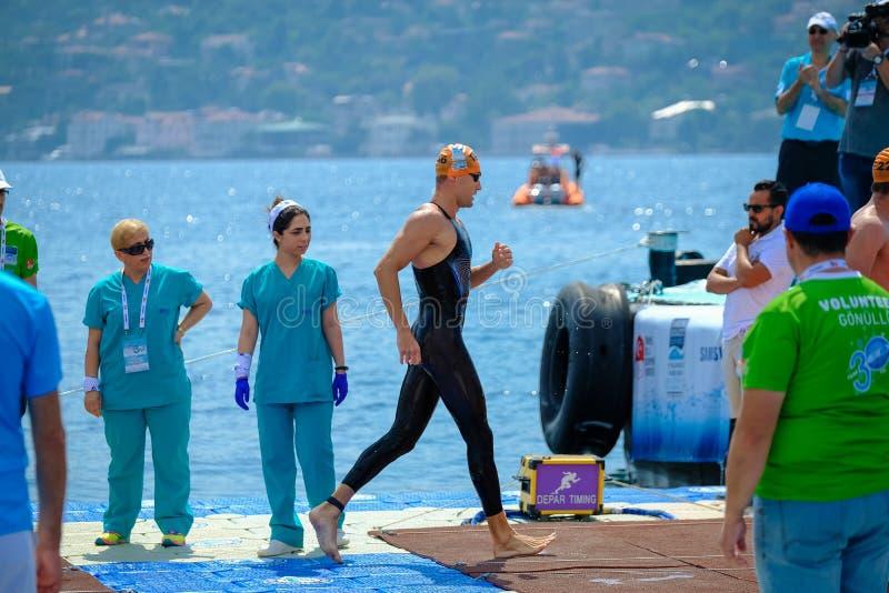 2018 Samsung Bosphorus Cross-Continental Swimming Race stock photo