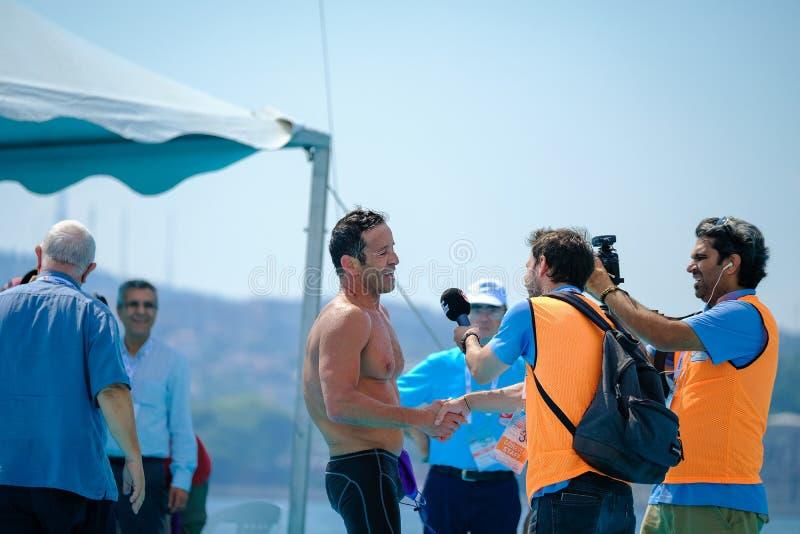 2018 Samsung Bosphorus Cross-Continental Swimming Race royalty free stock photo