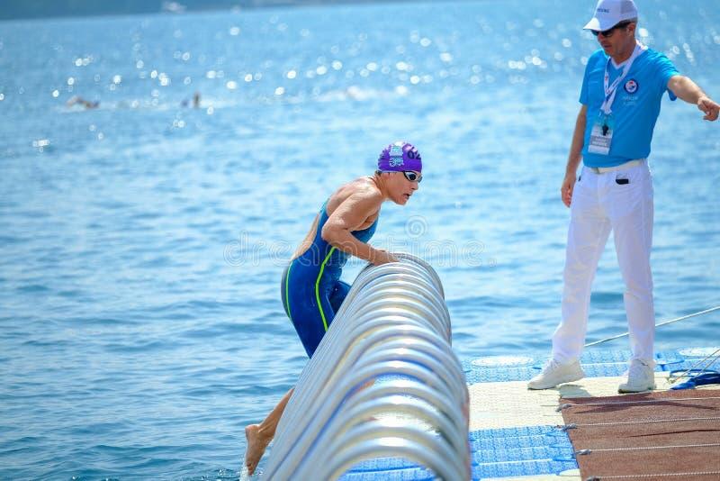 2018 Samsung Bosphorus Cross-Continental Swimming Race royalty free stock photos