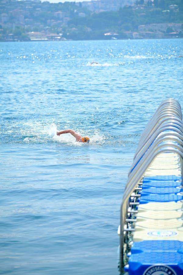 2018 Samsung Bosphorus Cross-Continental Swimming Race stock images