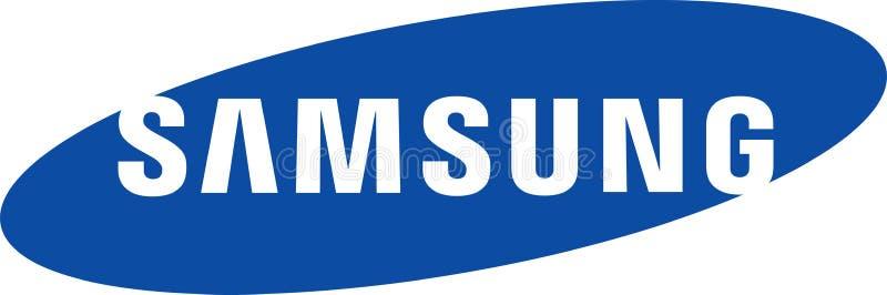 Samsung företagslogo royaltyfri illustrationer