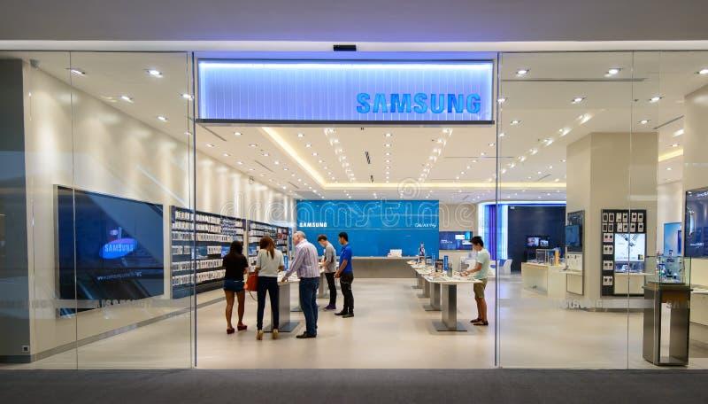 Samsung font des emplettes, ambassade centrale images libres de droits