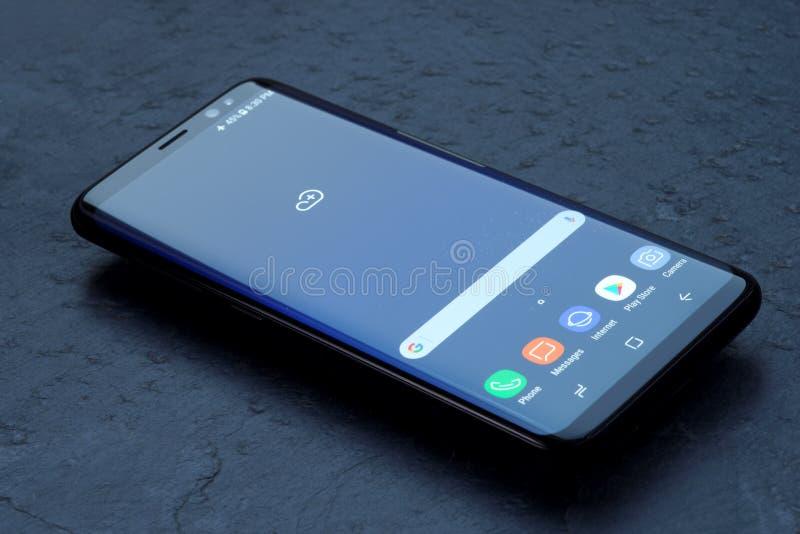 Samsung galaktyka S8 obraz royalty free