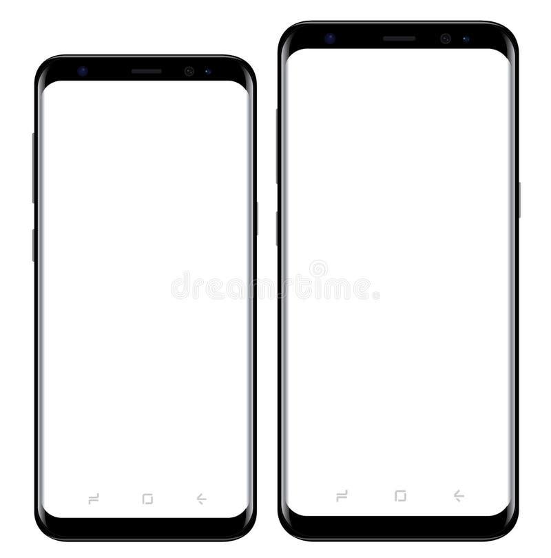 Samsung galaktyka S8 s8+ royalty ilustracja
