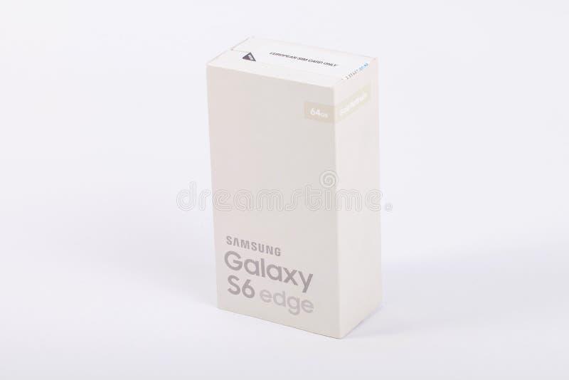 Samsung galaktyki S6 krawędź Złocista platyna zdjęcia royalty free