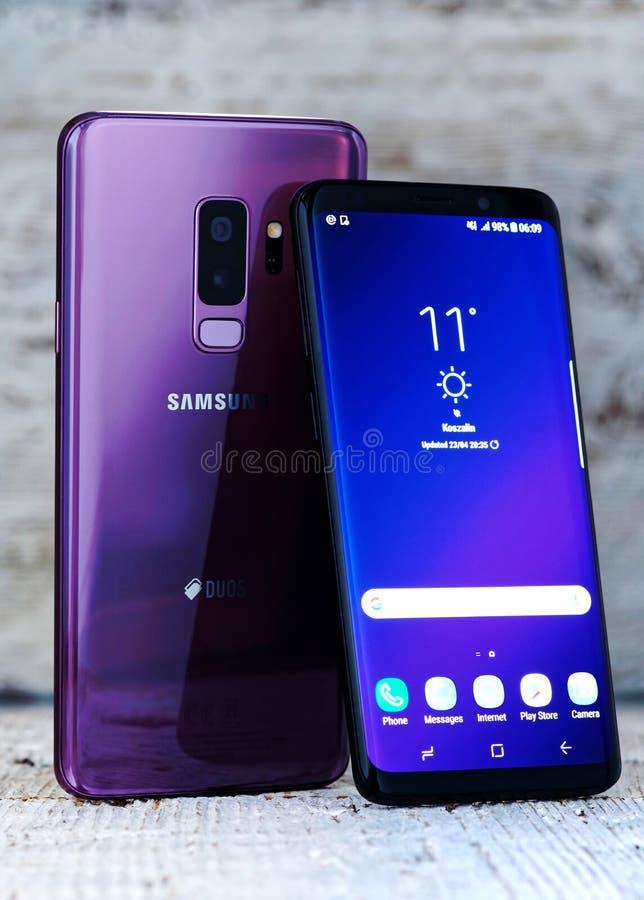Samsung galax S9 plus & Samsung S9 royaltyfri foto