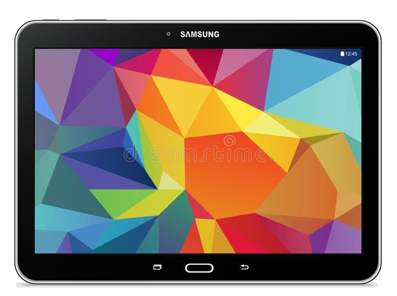 Samsung galaxflik 4 10 1 LTE-svart royaltyfri illustrationer