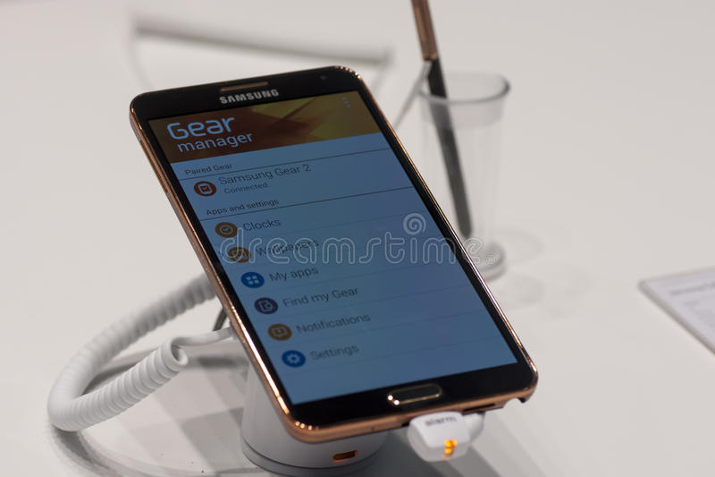 SAMSUNG GALAXY NOTE 3, MOBILE WORLD CONGRESS 2014 Editorial Image