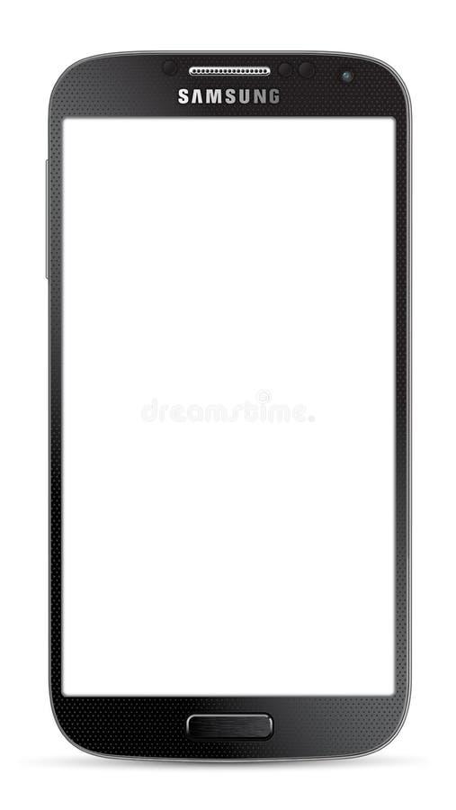Samsung Galaxy S4 black royalty free illustration